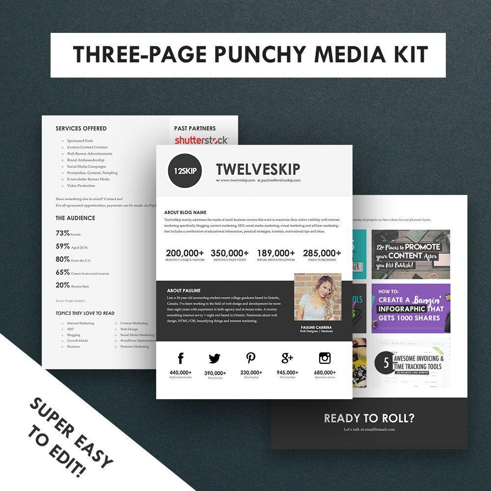 Three Page Media Kit Template: https://www.etsy.com ...