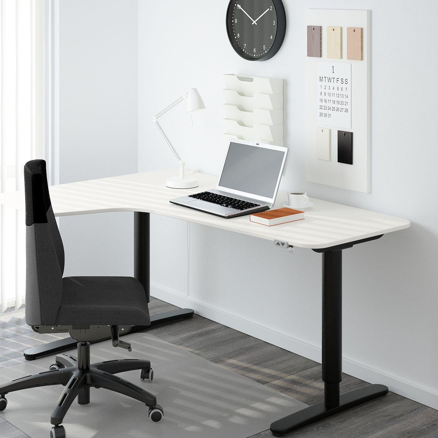 Bekant Left Hand Corner Table Top White Ikea In 2020 Ikea Bekant Ikea Ikea Bekant Desk