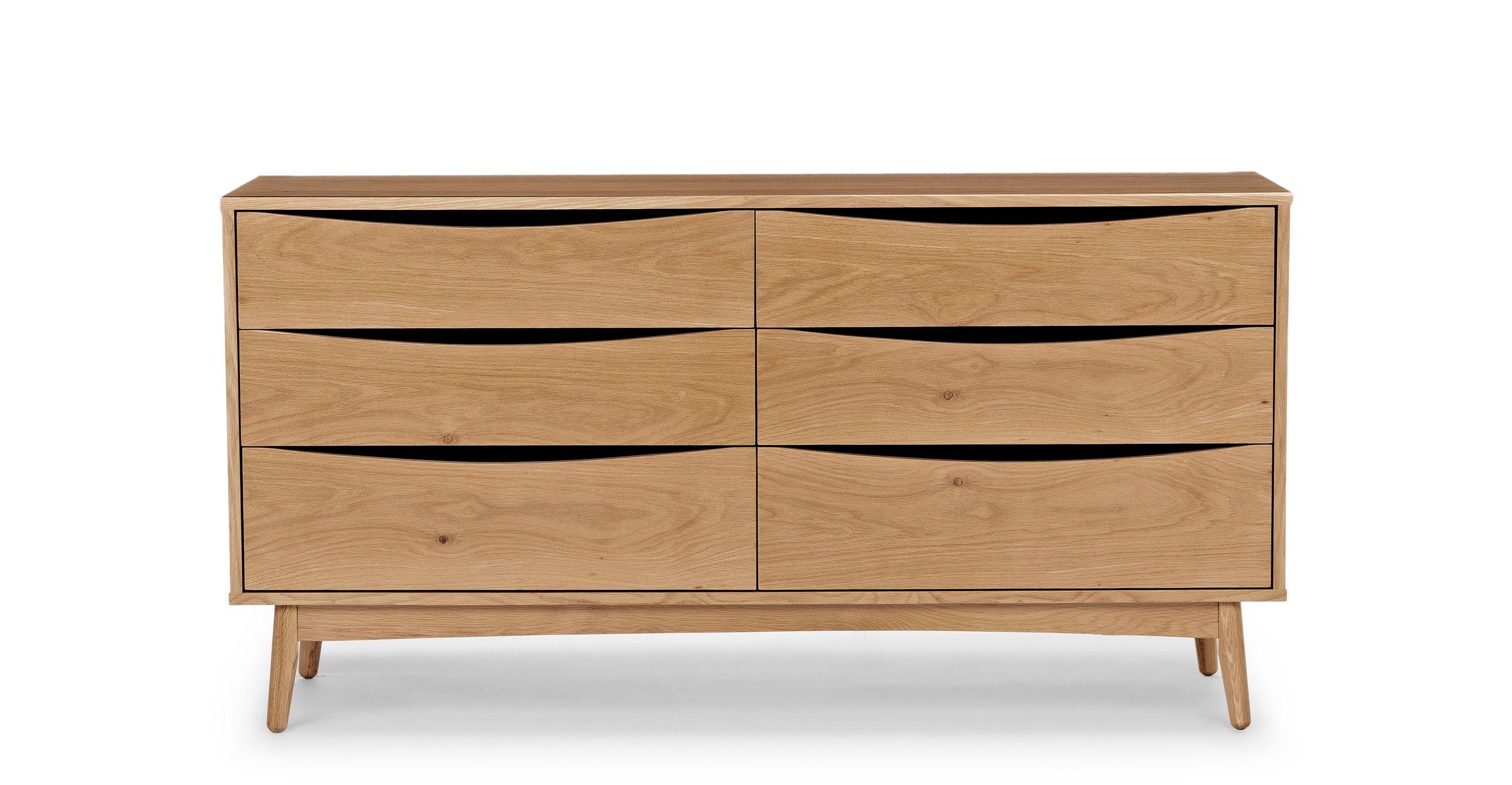 Best Culla Oak 6 Drawer Double Dresser Double Dresser 400 x 300
