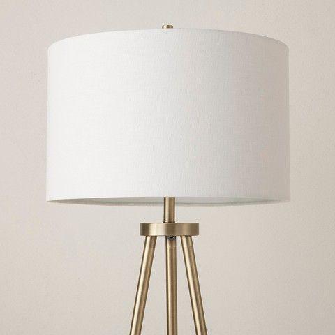 Tripod Floor Lamp Antique Brass Threshold Pinterest Tripod