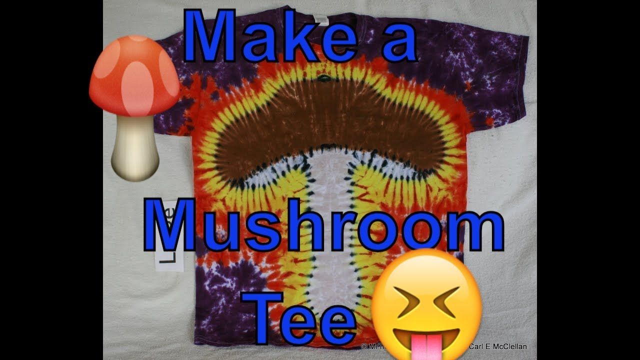 Diy how to tie dye a mushroom tee youtube how to tie