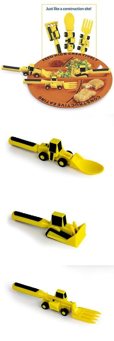 Feeding Sets 117386 Constructive Eating Construction Plate With Construction Utensil Set 3Pc New -\u003e  sc 1 st  Pinterest & Feeding Sets 117386: Constructive Eating Construction Plate With ...