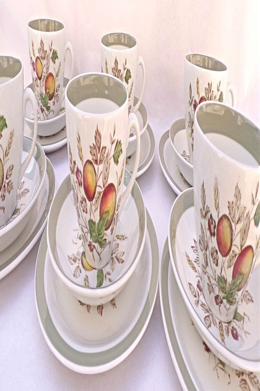 #porcelaine #tableware #porcelain #anglaise #teacups #vintage #england #meakin #alfred #dishes #made #trio #set #in #of Vintage ...