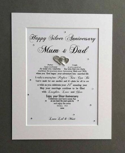 Personalised Ruby Anniversary Gift Unframed Parents 40th Wedding