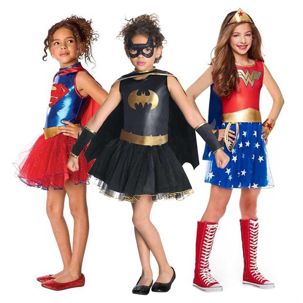 Deluxe Supergirl Girls Fancy Dress Childrens World Book Day Superhero Costume