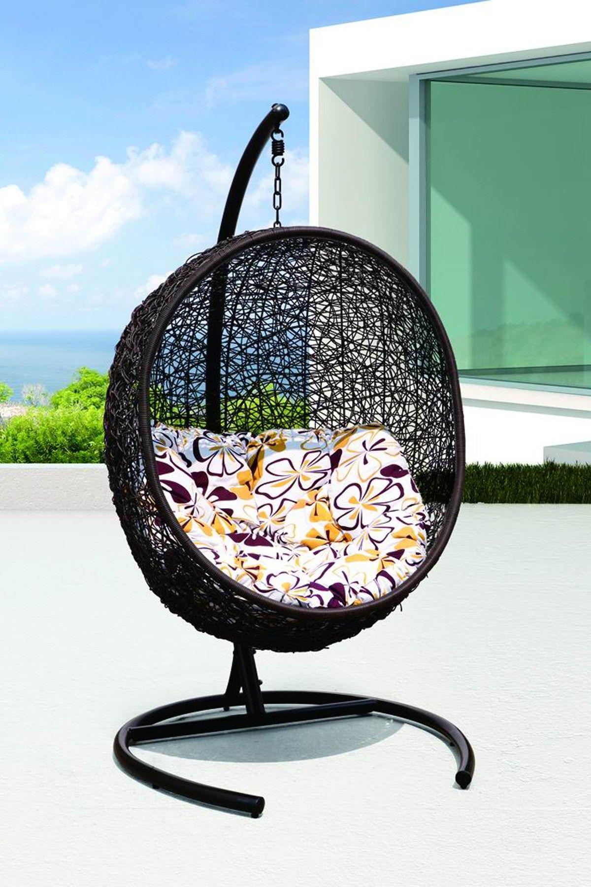 Cocoon wicker rattan outdoor patio swing chair home pinterest