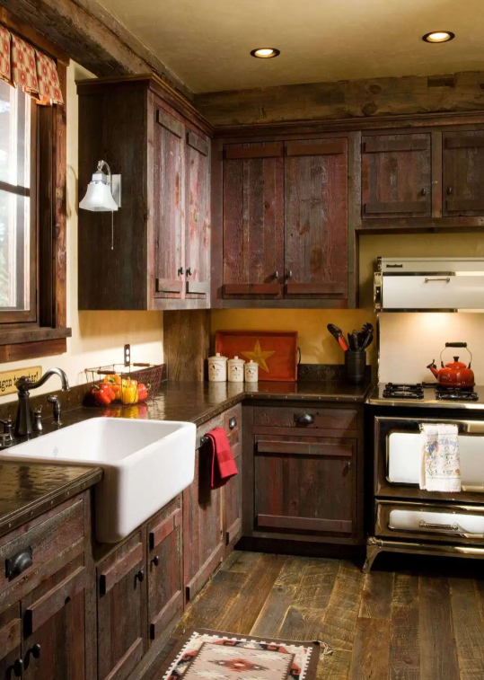 √ 10+ Farmhouse Kitchen Cabinet: Pictures, Ideas & Designs #darkkitchencabinets