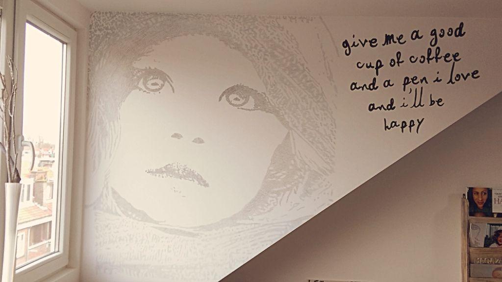 Slaapkamer Met Kunstmuur : Muur schildering muurschildering wallart wall art home and life