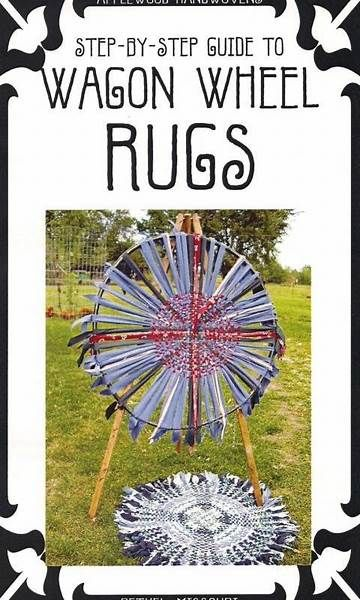 WAGON WHEEL RUGS weave a rag rug from fabric strips