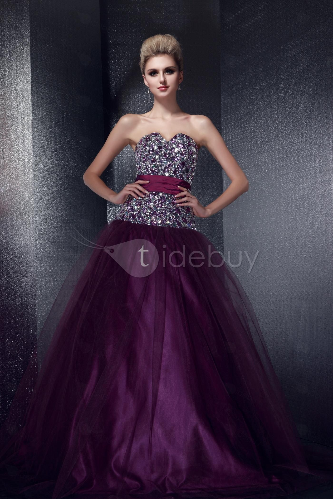 8f5eb888f6 purple diamonds prom dress! | Purely Purfect Purple | Prom dresses ...