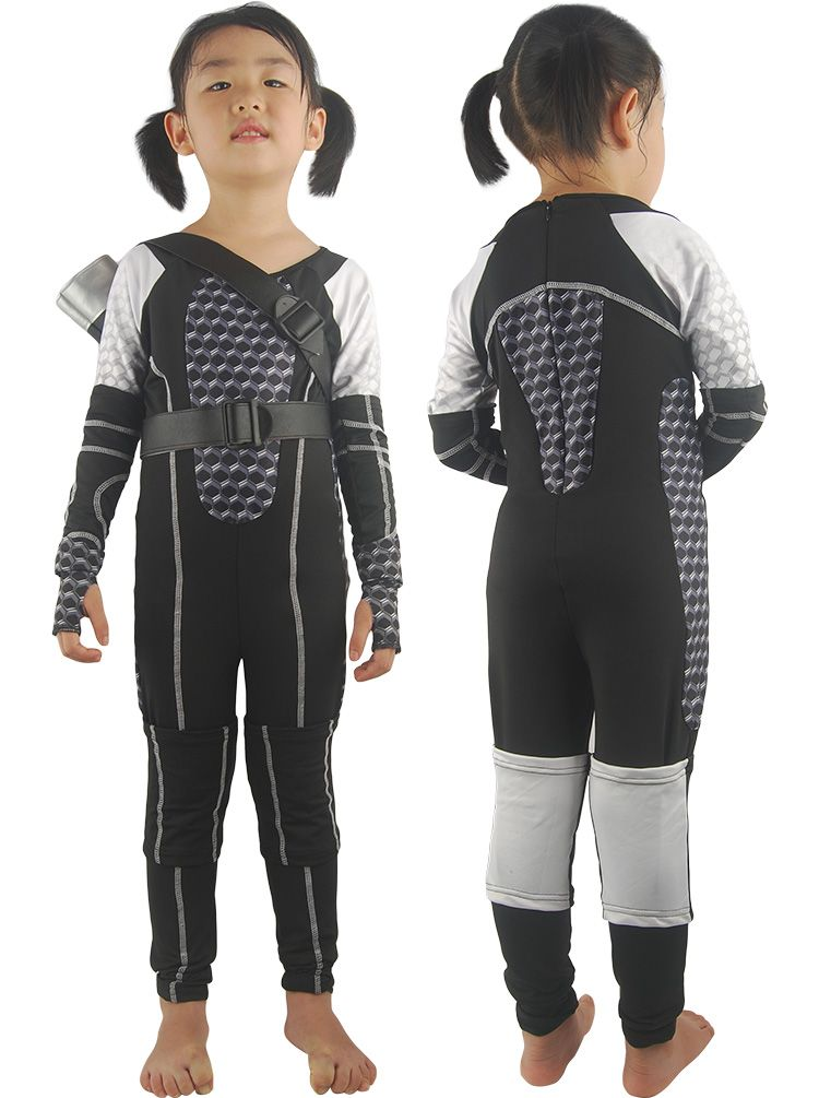 The Hunger Games uniform cosplay costume jumpsuit w/ quiver for kids  children jumpsuit quiver halloween