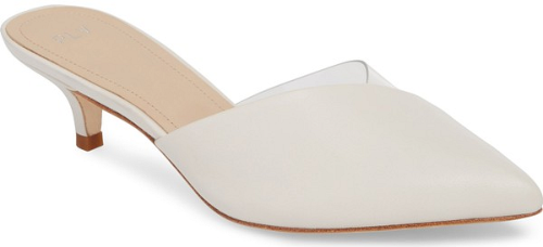 1a801688c84 Pour La Victoire Koral Pump in White. A pointy toe