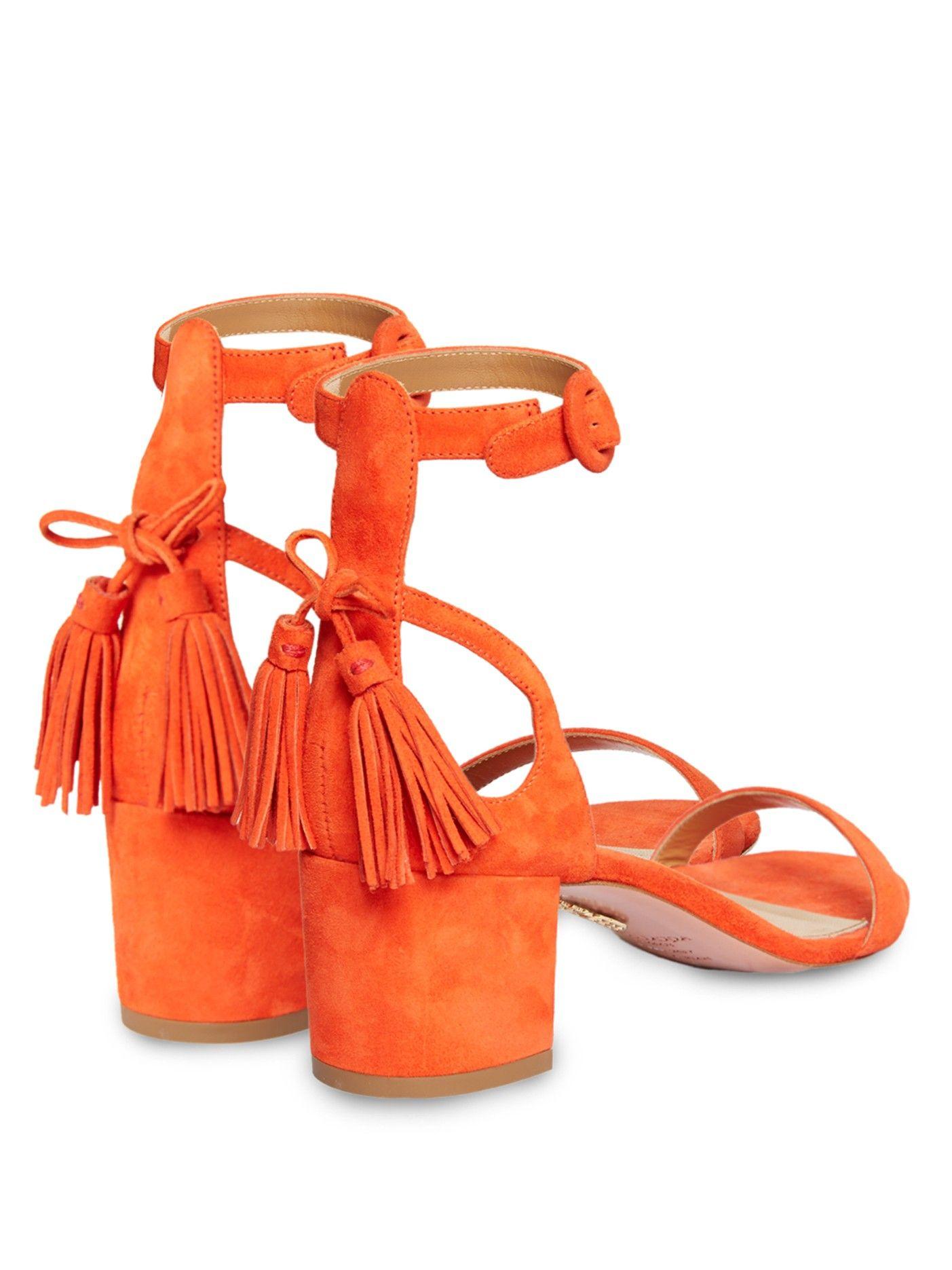 Pixie tassel-back suede sandals   Aquazzura   MATCHESFASHION.COM