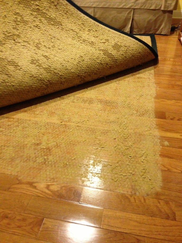 Latex Rug Backing Damaged The Wood Floor Wood Floor