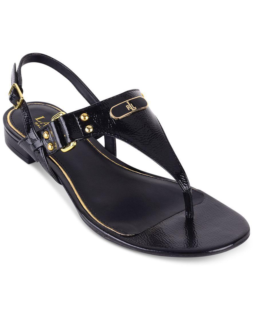 481863c6ff08 Lauren Ralph Lauren Valinda T-Strap Slingback Thong Sandals