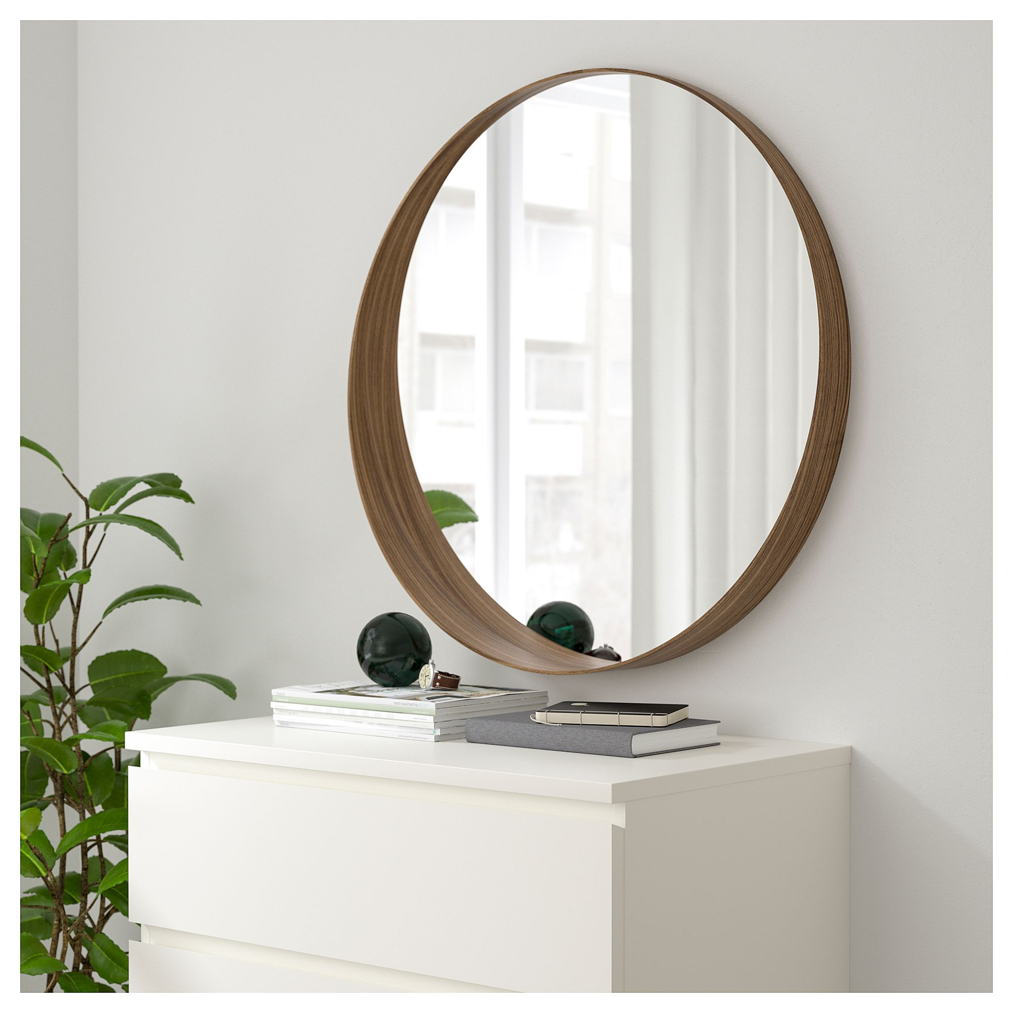STOCKHOLM Mirror Walnut veneer 80 cm - IKEA | LArge living room ...