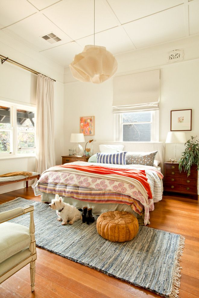 eclectic bedroom furniture. Bedroom Eclectic With Pendant Light Dark Wood Nighstand - Http://redimages.com.au/2014/07/15/designsponge-project/kim-pearson-14/ Furniture