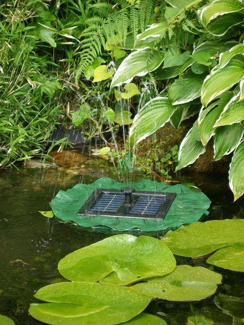 Solar Floating Lily Pad Fountain By Solaray™ Fountain 640 x 480