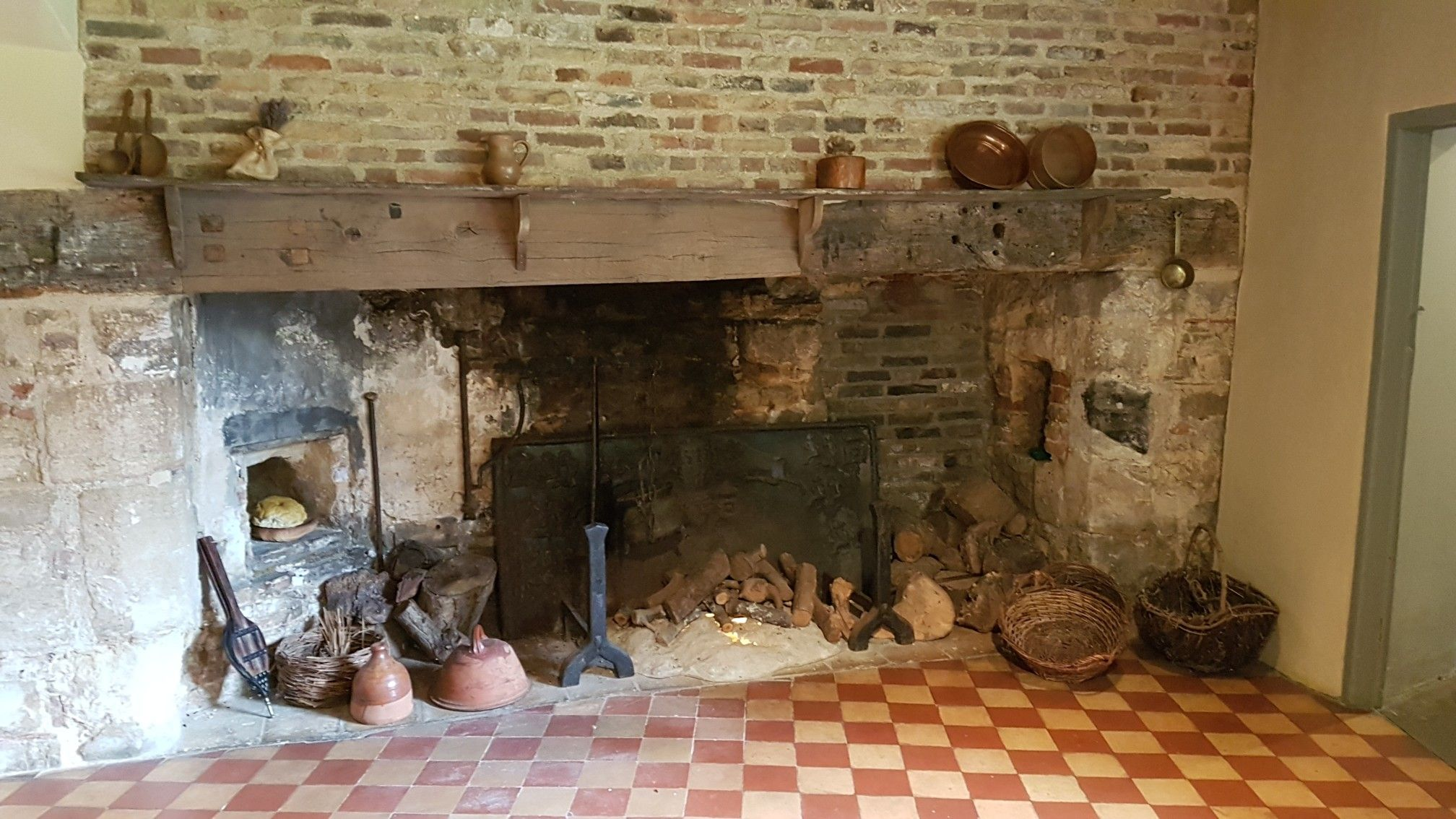 cromwell u0027s house 12th century fireplace in kitchen ely in the