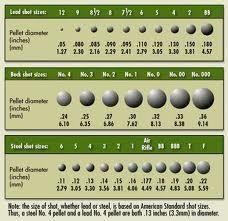 Shotgun shot size also pellet chart guns pinterest and rh