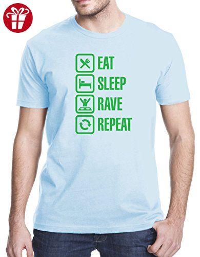 Eat Sleep Rave Repeat T-Shirt, 3XL, Light Blue (*Amazon Partner-Link)