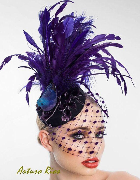 Fantasy Bird Fascinator Headpiece Cocktail hat by ArturoRios ... a59395292db