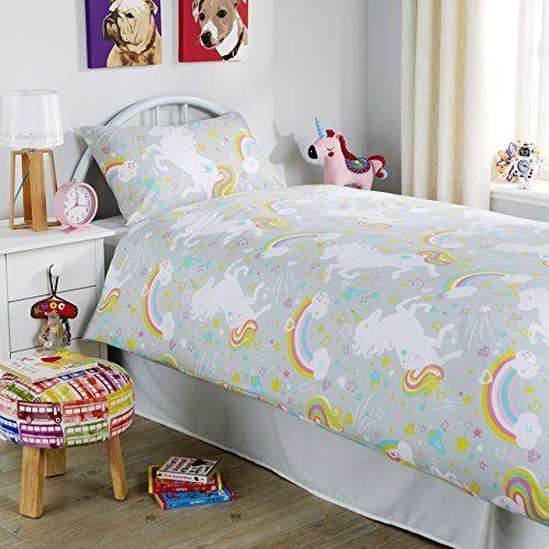 Unicorn Duvet Quilt Cover Set With Pillow Cases Polycotto Https