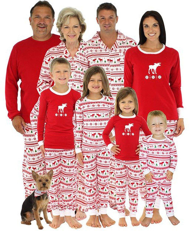 Weihnachten Pyjama Familie.Weihnachten Kinder Mama Papa Zwei Stück Rot Gestreift Zusammenpassen