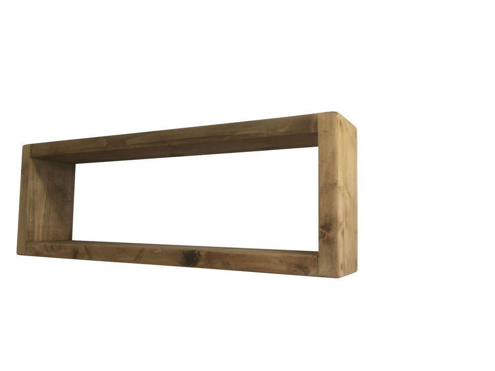 British Handmade Floating Solid Wood Wall Shelves Unit DVD Book Storage in Home Furniture u0026  sc 1 st  Pinterest & British Handmade Floating Solid Wood Wall Shelves Unit DVD Book ...