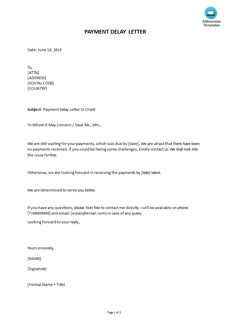 How To Draft A Delay Payment Reminder Letter To Client Download This Payment Delay Letter To Resignation Letter Sample Resignation Template Resignation Letter
