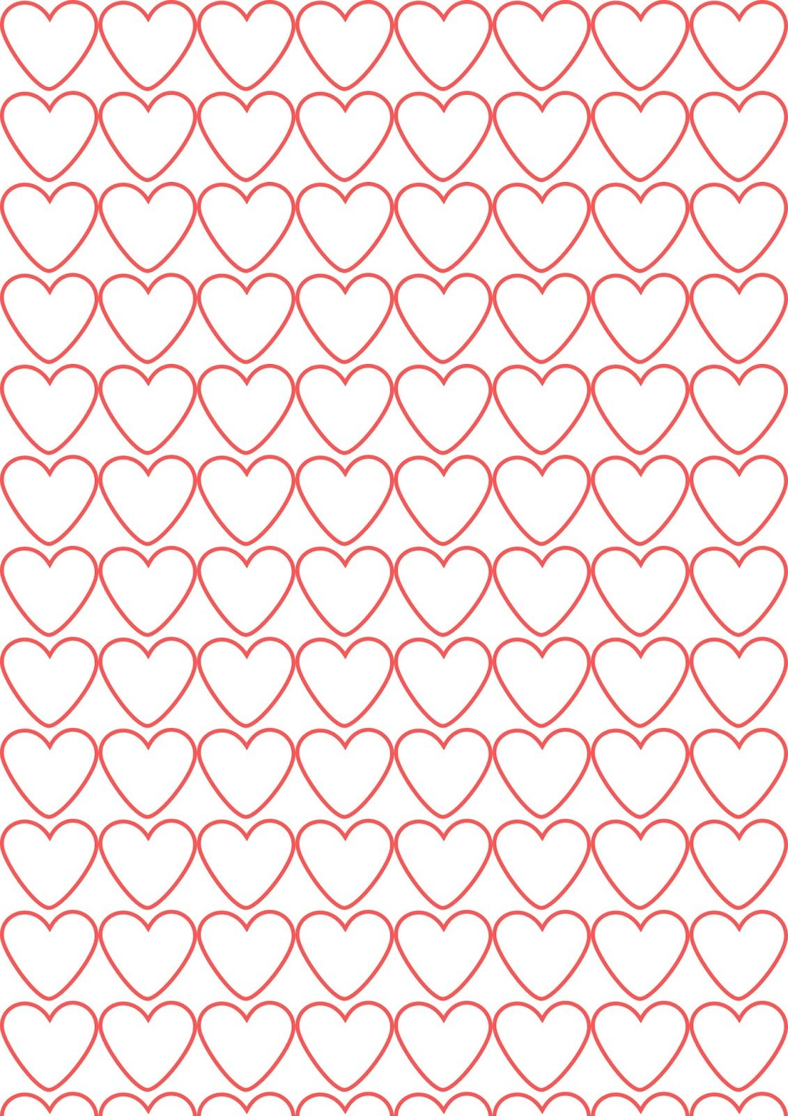 FREE printable heart pattern paper   #Valentines
