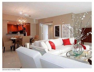 Palm Beach Condo Contemporary Living Room With Images Florida
