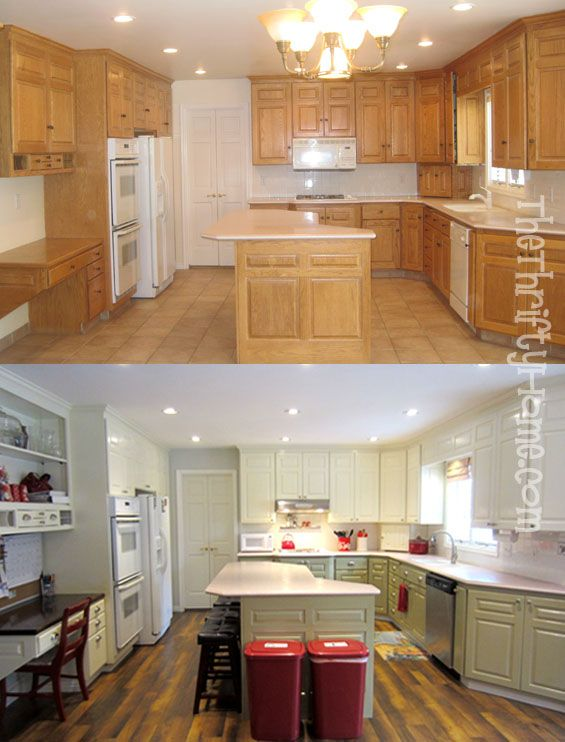 Kitchen Remodel Painting Cabinets With Alabaster White Martha Mourning Dove And A 50 Dollar Wagner Paint Sprayer