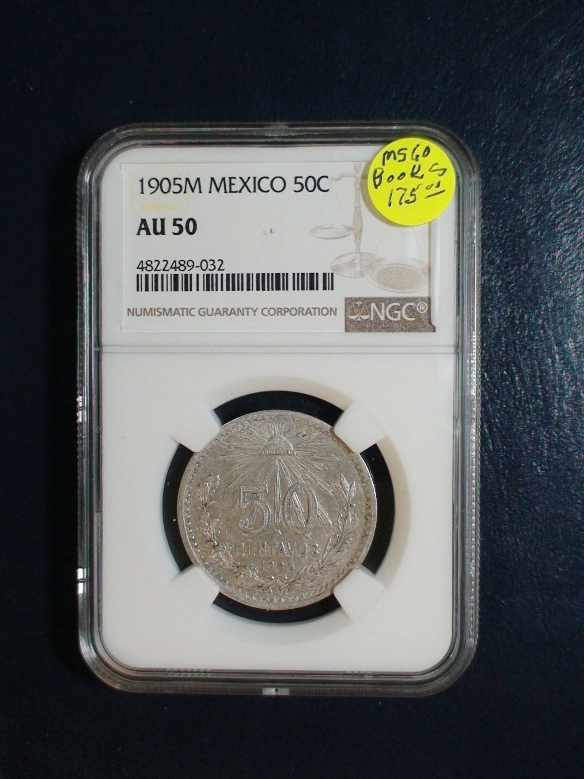 1905 M Mexico Fifty Centavos Ngc Au50 Silver 50c Coin Priced To Sell Now Coin Prices Things To Sell Coins