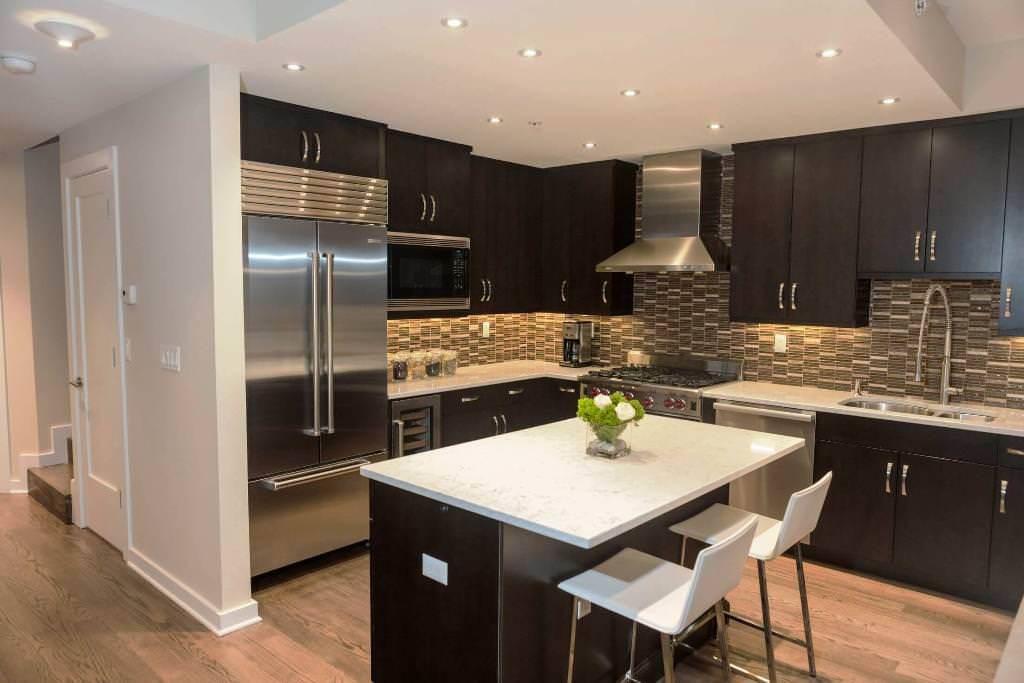 Dark Kitchen Cabinets with Light Wood Floors — New Kitchen Ideas ...