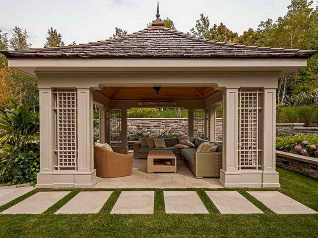 42 Awesome Outdoor Living Design Ideas On A Budget Freshouz Com Modern Gazebo Gazebo Plans Patio Gazebo Backyard gazebo ideas attached to house