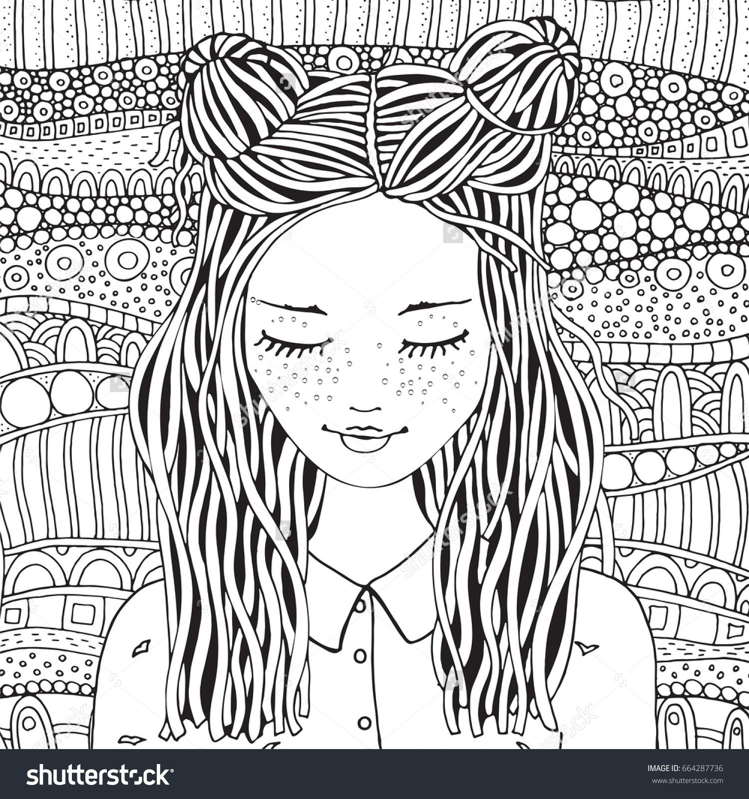 12+ Detailed coloring pages for adults girls ideas