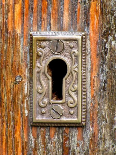 Old fashioned lock on the door of the former st peters - Old fashioned interior door locks ...