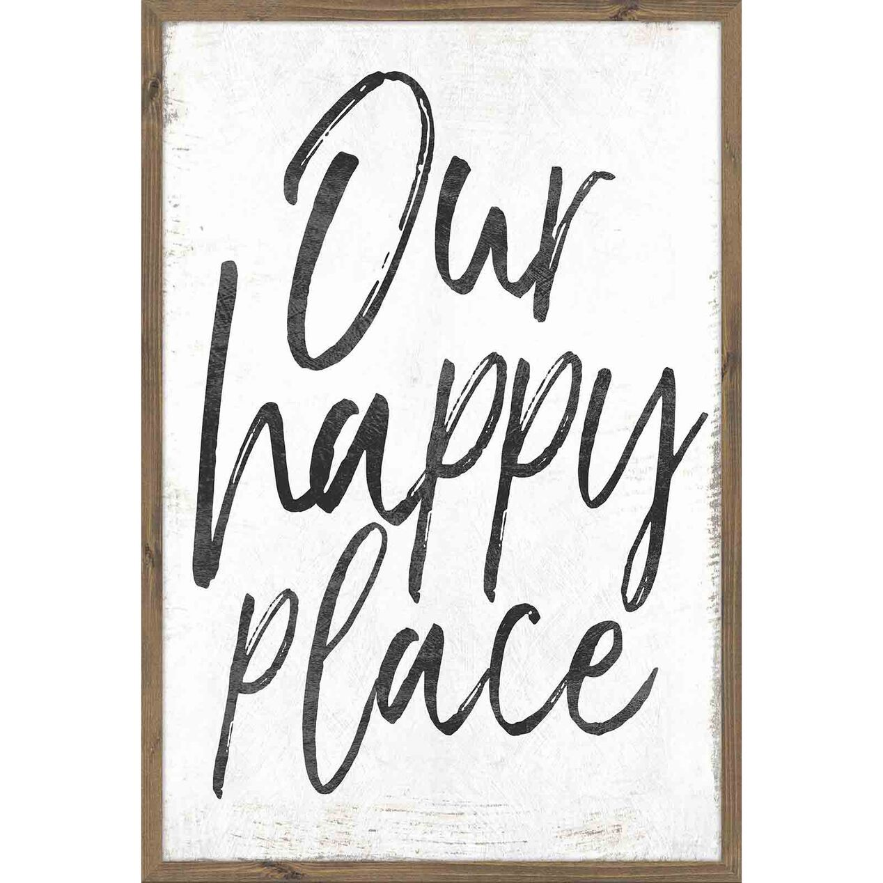 Shanty2chic Our Happy Place Wall Art In 2020 Modern Wall Decor Art Happy Signs Happy Place Sign