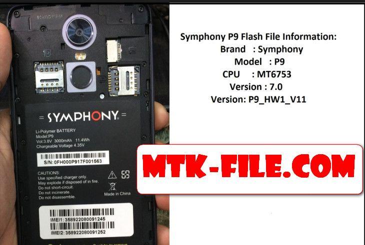 Symphony P9 FRP Remove | mtk file | Filing