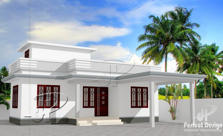 732 Square Feet 2 Bedroom Single Floor Low Budget Home