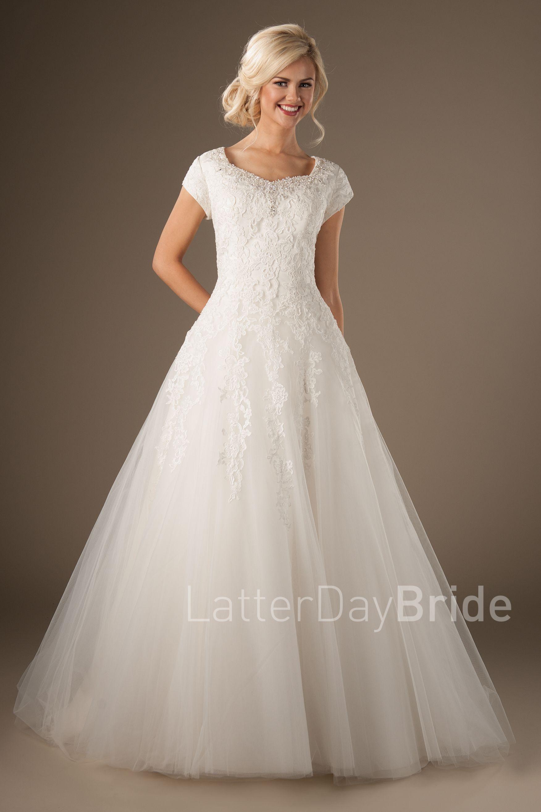 Lorelai- Modest Ball Gown- $1305 Latterday Bride Collection, found ...
