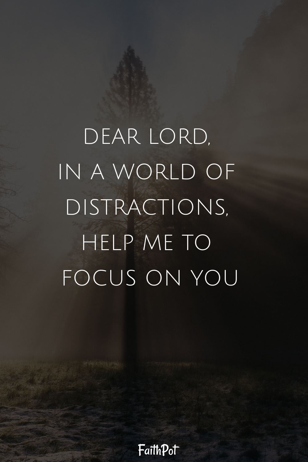 Focus on the Lord