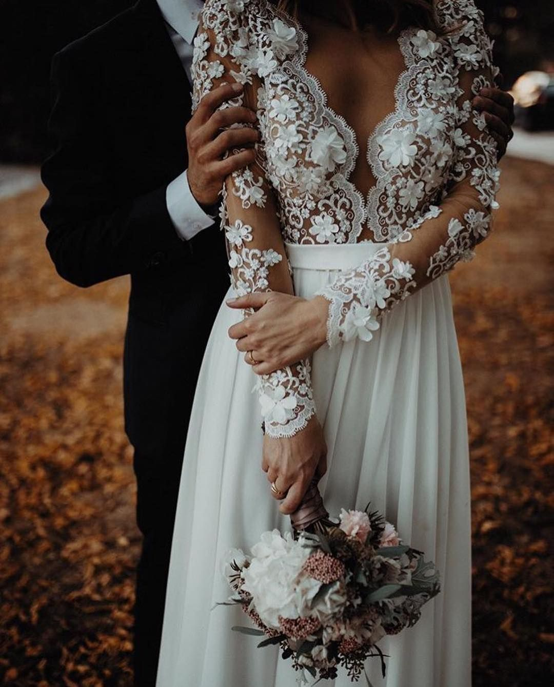 Elegant Fit And Flare Wedding Dress Stunning All Lace