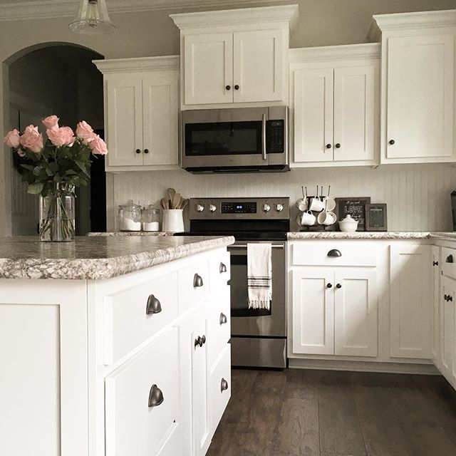 Silver Fox Paint Kitchen: Cabinet Color:Swiss Coffee/same Color As Our Shiplap