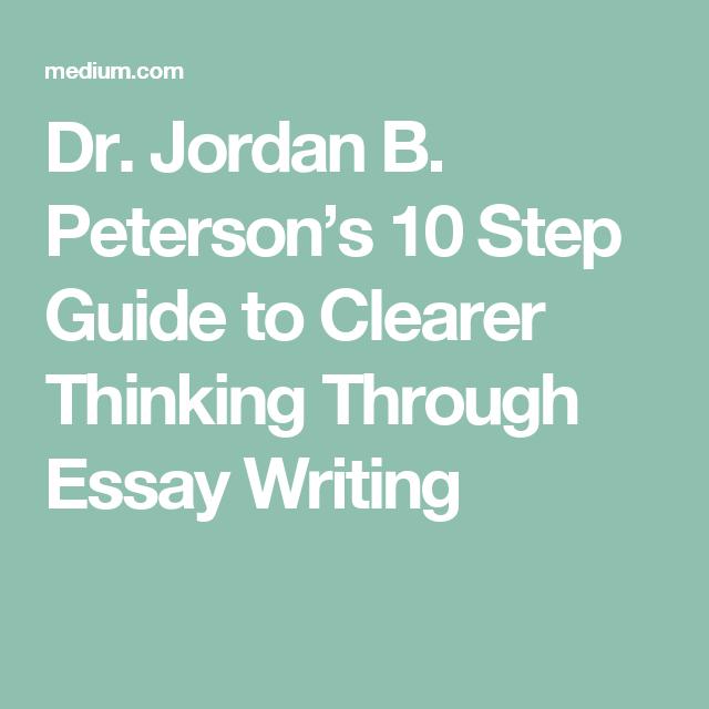 jordan peterson essay template