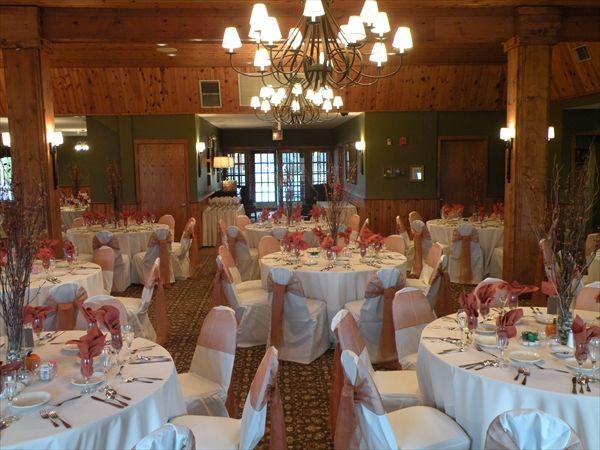 Set Up For A Wedding Reception At Tamarack Golf Club Table Decorations Decor Home