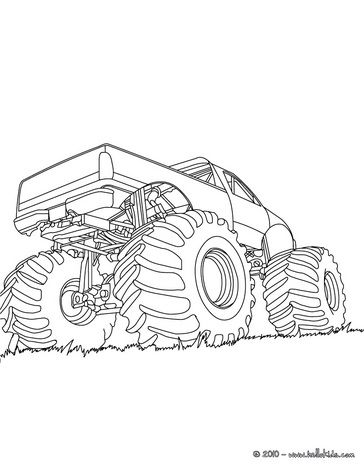Monster truck coloring page | Oliver\'s birthday party | Pinterest ...