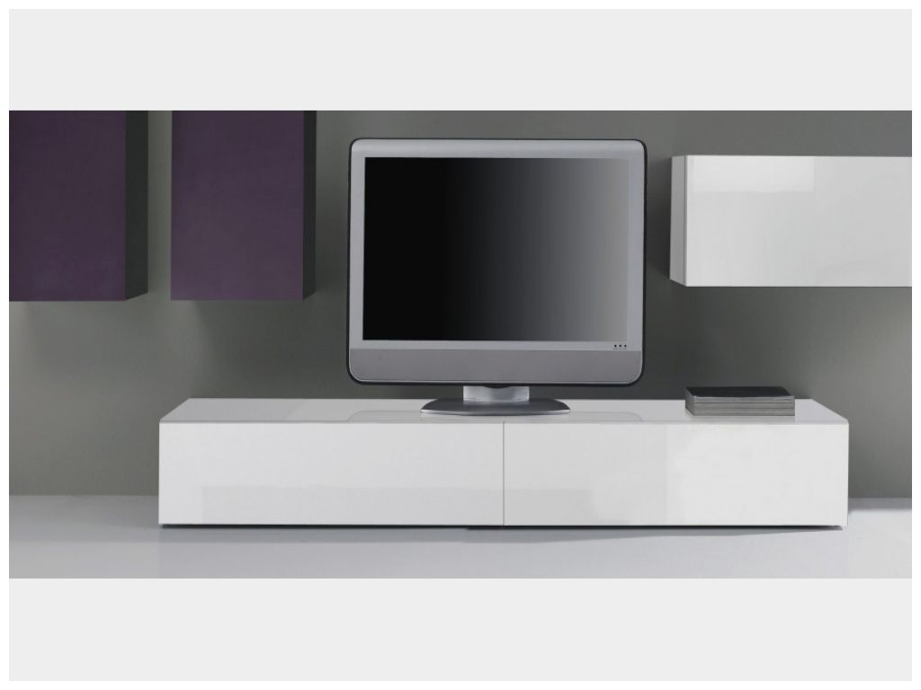 meilleur de meuble tv bas blanc laque