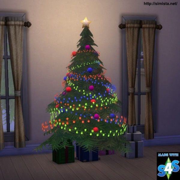 Simista: Christmas Tree and Lights • Sims 4 Downloads ...